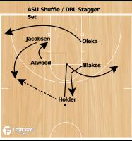 Basketball Play - ASU Shuffle / DBL Stagger Set