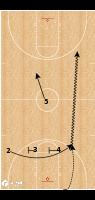 "Basketball Play - Stetson Full Court ""L"""