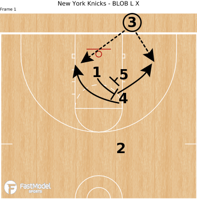 Basketball Play - New York Knicks - BLOB L X