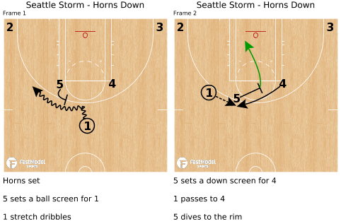 Seattle Storm - Horns Down - Powered by FastModel Sports