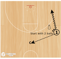 Basketball Play - 2 Ball Spot Shooting