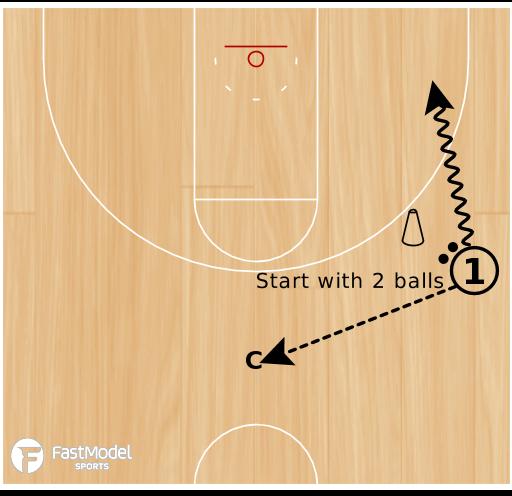 Basketball Play - 2 Ball Spot Shooting