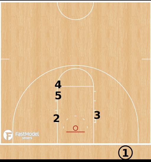 Basketball Play - Penn State Nittany Lions - Line BLOB