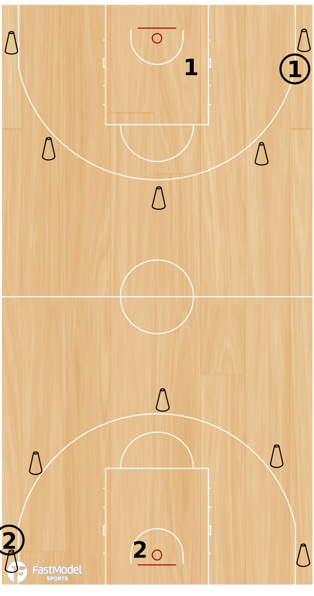 Basketball Play - 2 in a Row Shooting