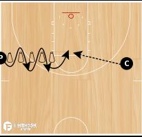 Basketball Play - Cone Drill #04 -- CCBC Cone Drill