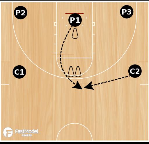 Basketball Play - Cone Drill #05