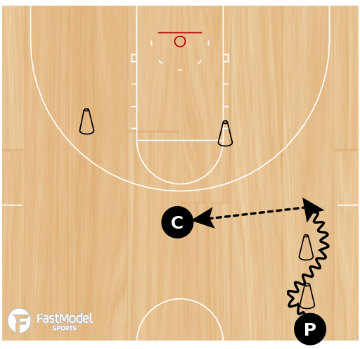 Basketball Play - Cone Drill #08